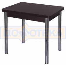 Стол кухонный Дрезден М-2 ВН 02 венге, ножки хром