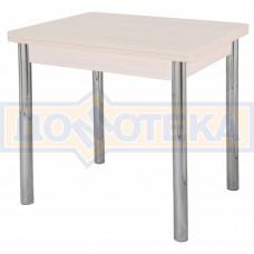 Стол кухонный Дрезден М-2 МД 02 молочный дуб, ножки хром