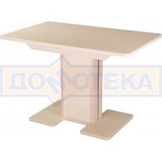 Стол с камнем - Румба ПР-1 КМ 06 МД 05-1 МД/КР КМ 06 ,молочный дуб