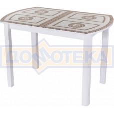 Стол со стеклом - Танго ПО БЛ ст-71 04 ВЛ ,белый