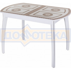 Стол со стеклом - Танго ПО БЛ ст-71 07 ВП БЛ ,белый