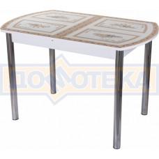 Стол со стеклом - Танго ПО БЛ ст-72 02 ,белый
