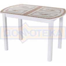 Стол со стеклом - Танго ПО БЛ ст-72 04 БЛ ,белый