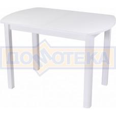 Стол со стеклом - Танго ПО-1 БЛ ст-БЛ 04 БЛ ,белый