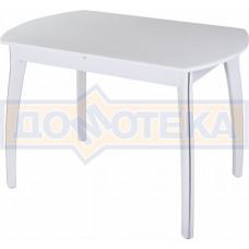 Стол со стеклом - Танго ПО-1 БЛ ст-БЛ 07 ВП БЛ ,белый