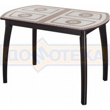 Стол со стеклом - Танго ПО-1 ВН ст-71 07 ВП ВН ,венге