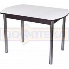 Стол со стеклом - Танго ПО-1 ВН ст-БЛ 02 ,венге