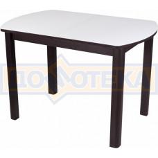 Стол со стеклом - Танго ПО-1 ВН ст-БЛ 04 ВН ,венге