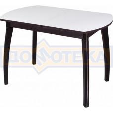 Стол со стеклом - Танго ПО-1 ВН ст-БЛ 07 ВП ВН ,венге