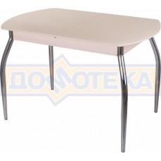 Стол со стеклом - Танго ПО-1 МД ст-КР 01 ,молочный дуб