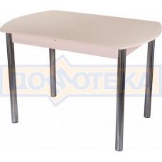 Стол со стеклом - Танго ПО-1 МД ст-КР 02 ,молочный дуб