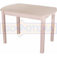 Стол со стеклом - Танго ПО-1 МД ст-КР 04 МД ,молочный дуб