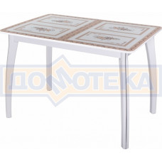 Стол со стеклом - Танго ПР БЛ ст-72 07 ВП БЛ ,белый