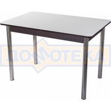 Стол со стеклом - Танго ПР ВН ст-БЛ 02 ,венге