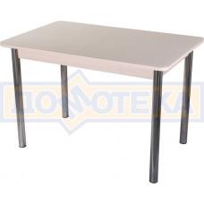 Стол со стеклом - Танго ПР МД ст-КР 02 ,молочный дуб