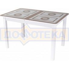 Стол со стеклом - Танго ПР-1 БЛ ст-71 04 БЛ ,белый