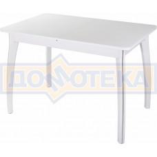 Стол со стеклом - Танго ПР-1 БЛ ст-БЛ 07 ВП БЛ ,белый