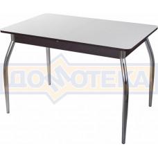 Стол со стеклом - Танго ПР-1 ВН ст-БЛ 01 ,венге
