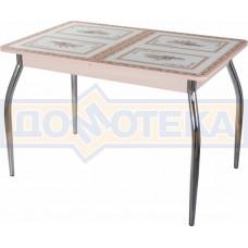 Стол со стеклом - Танго ПР-1 МД ст-72 01 ,молочный дуб