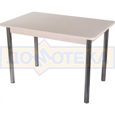 Стол со стеклом - Танго ПР-1 МД ст-КР 02 ,молочный дуб