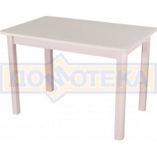 Стол со стеклом - Танго ПР-1 МД ст-КР 04 МД ,молочный дуб