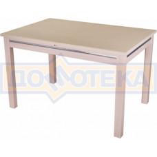 Стол с камнем - Самба-1 КМ 06 МД 08 МД, молочный дуб