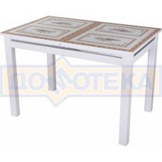 Стол со стеклом - Вальс БЛ ст-72 08 БЛ, белый