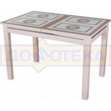 Стол со стеклом - Вальс-1 МД ст-71 08 МД, молочный дуб