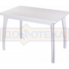 Стол с камнем - Румба ПР КМ 04 БЛ 07 ВП БЛ ,белый