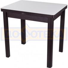 Стол кухонный Чинзано М-2 ВН ст-БЛ 04 венге, стекло белое