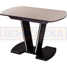Стол кухонный Танго ПО ВН ст-КР 03 ВН, венге, стекло кремового цвета