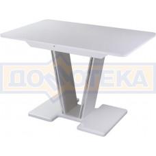 Стол кухонный Танго ПР БЛ ст-БЛ 03 БЛ, белый, выбеленное закаленное стекло