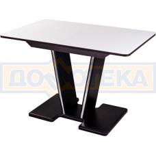 Стол кухонный Танго ПР ВН ст-БЛ 03 ВН, венге, выбеленное закаленное стекло