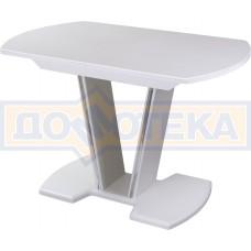 Стол обеденный  Румба ПО КМ 04 БЛ 03 БЛ, белый, белый камень