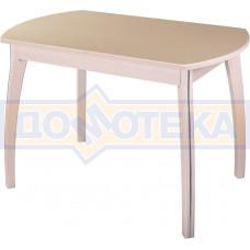 Стол обеденный  Румба ПО-1 КМ 06 МД 07 ВП МД, молочный дуб, камень песочного цвета