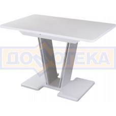 Стол обеденный  Румба ПР КМ 04 БЛ 03 БЛ, белый, белый камень