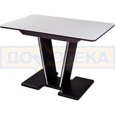 Стол обеденный  Румба ПР КМ 04 ВН 03 ВН, венге, белый камень