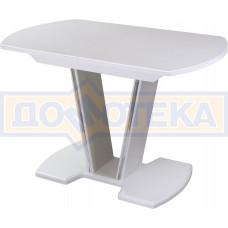 Стол с камнем - Румба ПО-1 КМ 04 БЛ 03-1 БЛ, белый, белый камень