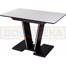 Стол с камнем - Румба ПР-1 КМ 04 ВН 03-1 ВН, венге, белый камень