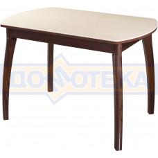 Столы с камнем Румба ПО КМ 06 ОР 07 ВП ОР, орех/камень песочного цвета
