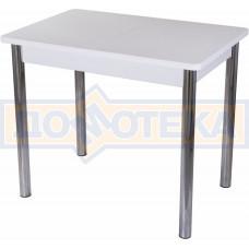Стол с камнем Румба ПР-М 04 БЛ 02, белый/камень белого цвета
