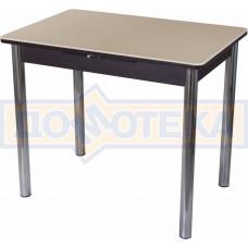 Стол с камнем Румба ПР-М 06 ВН 02, венге/камень песочного цвета