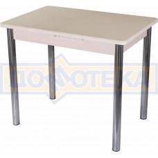 Стол с камнем Румба ПР-М 06 МД 02, молочный дуб/камень песочного цвета