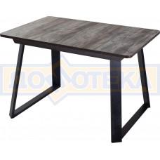 Стол Джаз ПР-1 ОТ/ВН 91-1 ЧР (Орех темный, ножки металл)