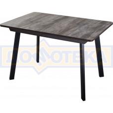 Стол Джаз ПР-1 ОТ/ВН 93 ЧР (Орех темный, ножки металл)