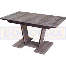 Стол из ЛДСП Джаз ПР-2 ОТ/ОТ 03-2 ОТ (Орех темный)