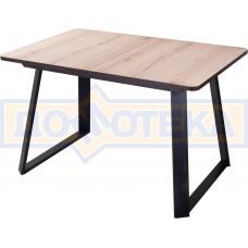 Стол Джаз ПР-1 ОС/ВН 91-1 ЧР (Орех светлый, ножки металл)