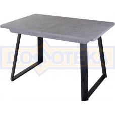 Стол Джаз ПР-1 СБ/СБ (Серый бетон) 91-1 ЧР