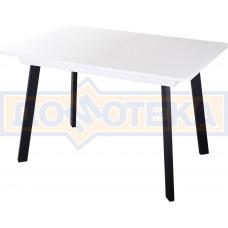 Стол со стеклом - Танго ПР-1 БЛ ст-БЛ 93 ЧР